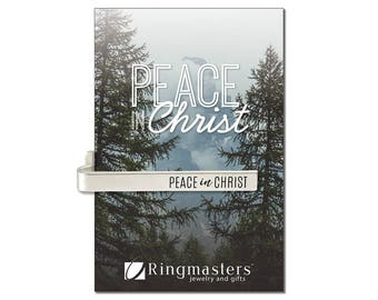 Peace In Christ Tie Bar D&C 19:23 LDS Mutual Theme for 2018