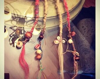 Mermaid/beach Dreadlock extensions (human hair) set of 4