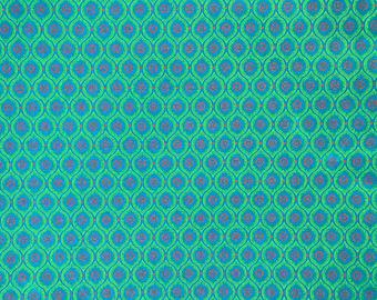 Three Cats Green Shweshwe African fabric
