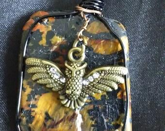 Bingamite Pendant with Owl Charm