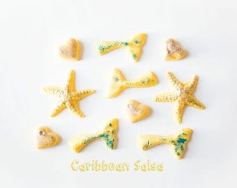 Caribbean Salsa Wax Melts (3.1 Oz.) - Tropical Scented Wax Melts - Tropical - Caribbean Salsa - Mermaid Tails - Wax Melts - Handmade Wax