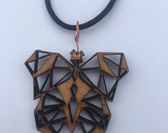 Wooden Geometric Butterfly [Cut-out]