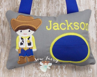 Boys Tooth Fairy Pillow * Monogrammed Tooth Fairy Pillow * Tooth Fairy Gift Ideas * Cowboy Tooth Fairy Pillow for Boys * Cowboy Tooth Pillow