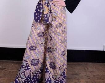 Batik palazzo vintage high wasted pants