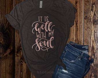 It is Well with my Soul Shirt, ROSE GOLD, Mom Tee, Religious Shirt, Christian Hymn Shirt, Christian Shirt, Inspirational Shirt, Women's Tee