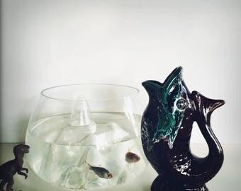 Vase poisson style Vallauris - French Vallauris Style Fish Vase