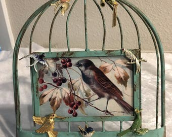 Jewelry Art, Bird Frame, Bird Brooches, Vintage style