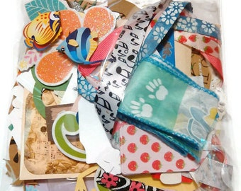 Large Junk Journal, Scrapbook Grab Bag 100 pieces