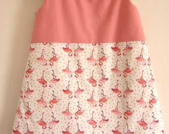 Sleeping bag 0-6 months - hand made - eco-friendly and organic fabrics - Flamingo Pink