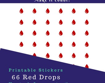 Red Drops Stickers