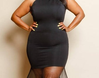 Plus size bodycon tube dress