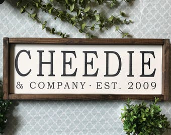 Custom Name Wood Sign, Framed Custom Name Sign, Custom Last Name Sign, And Company Sign,  Family Name Sign, Established Sign, & Co Sign