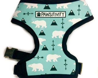 Pawsitivity Reversible Dog Harness - Buffalo Plaid & Polar Bears