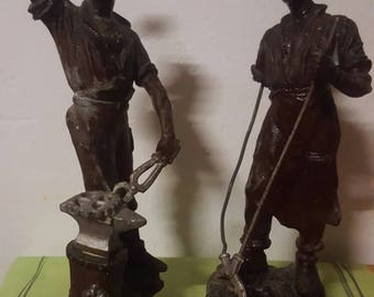 Blacksmiths in spelter figurines