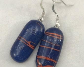 Fused Glass Bubble Earrings