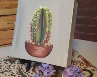 6x6 Original Succulent Oil Painting