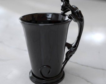 Black Cat Cup porcelain Mug