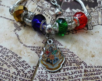 Hogwarts School of Witchcraft and Wizardry - A Harry Potter Inspired Charm Bracelet
