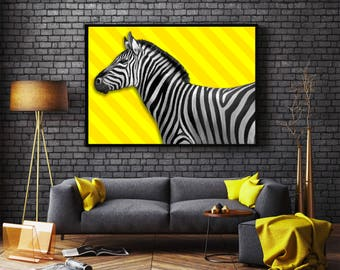 Yellow Zebra wallpaper