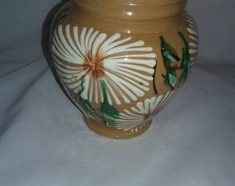 Vintage Pottery vase handmade and hand painted in Mexico