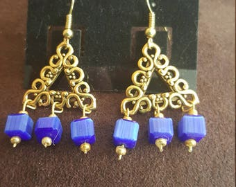 Lapis Chandalier Earrings