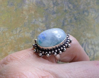 RING 925 sterling silver and Moonstone (BA189)