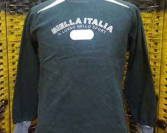 Vintage FILA / fila biella italia / small embroidery logo / medium size sweatshirt (W105)