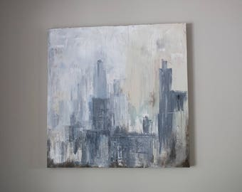 "Cityscape #5 - New York City Painting - 36"" x 36"" By Sam Blakeley"