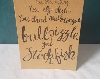 Shakespearean Insults - Birthday Card
