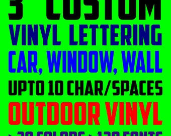 Custom Vinyl Decal Vinyl Lettering Vinyl Stickers Letters - Custom vinyl decals lettering