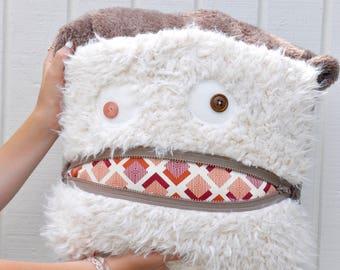 Rusty Diamond Monster Pillow & Blanket