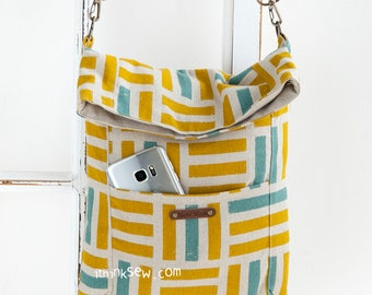 1148 Louise Fold Over Tablet Bag PDF Sewing Pattern