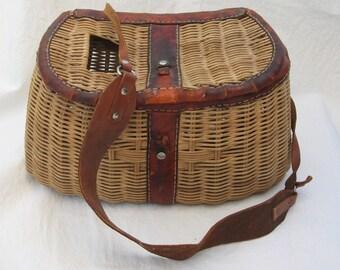 Vintage Fishing Creel Basket