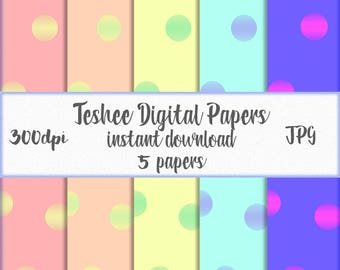 Confetti digital papers, Digital confetti papers, Colorful confetti papers, Instant download confetti, Confetti papers, Baby shower papers