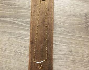 Beaded Choker Necklace - Beaded Bar Necklace - Bar Necklace - Claddagh Charm Necklace - Claddagh Choker