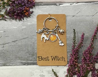 Witch Keyring, Best Witch Keyring, Witch Keychain, Halloween Gift, Halloween Jewellery, Witch Jewlery, Witchcraft Keyring, Halloween Keyring