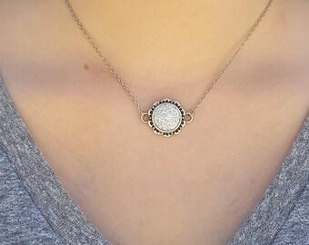 Rhinestone Drusy Necklace
