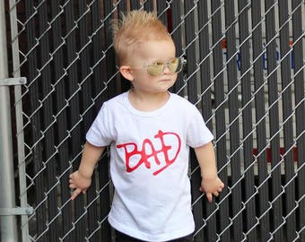 BAD - Toddler Clothes - Toddler Shirts, Toddler Outfit, Toddler Shirt, Girls Shirt, Boys Shirt, Baby Clothes, Baby Shirts, Toddler Tees