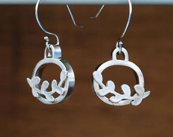 """""""Life"""" earrings. Silver 950"""