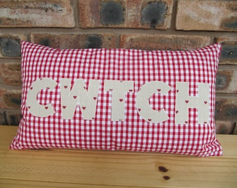 Handmade cushion - cwtch