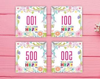 Dot Dot Smile Live Sale Number 1-500 Normal / Mirrored, Dot Dot Smile Facebook Live Sale, DDS Marketing Floral Number, Printable file