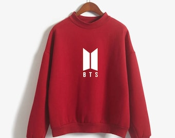 BTS Sweatshirt Bangtan Boys K-Pop Hoodie Long Sleeve Korean Hooded Sweater Bright Sweatshirt Harajuku Vintage Oversized Sweatshirt
