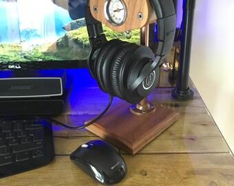 Black American Walnut Headphone stand