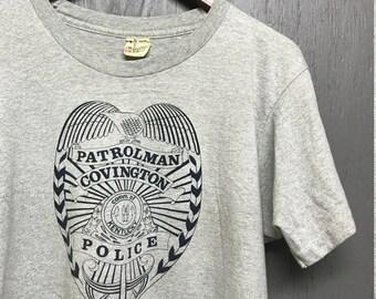M vintage 80s Covington Kentucky Police screen stars t shirt