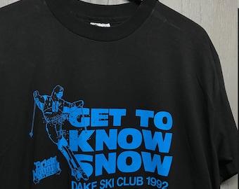 XL nos vintage 90s 1992 Bristol Mountain Ski t shirt * dake New York