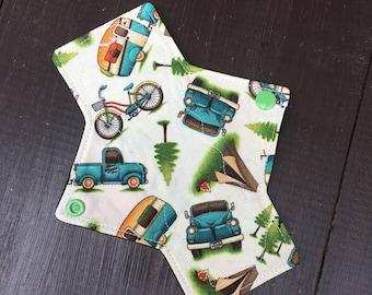 7 inch liner/light cloth pad, panty liner, reusable cloth pads, reusable, mama cloth, liners