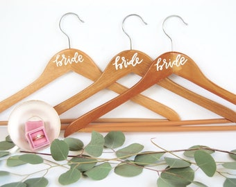 Calligraphy Wedding Dress Hanger | Bride Hanger | Wedding Dress Hanger | Bridesmaid Gift | Bridal Hanger | Custom Wedding Dress Hanger |