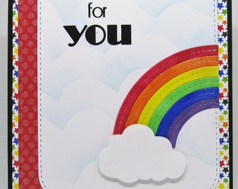 Rainbow Baby Card - Gay Pride Card - LGBTQ Card - Rainbow Card - Miscellaneous Card - LGBTQ Friendly Card - Handmade Card