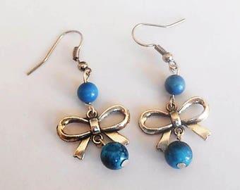 Boucles d'oreilles fantaisies perles