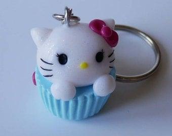 Hello Kitty CupCake keychain